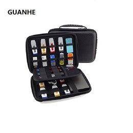 portable flash memory drive Coupons - GUANHE Flash Large Carrying Portable Case With 23 Elastic Bands For Cables, USB Sticks, Hard Drive, Memory Cards Black EVA