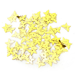 Wholesale Party Scatters - 350pcs New Table Party Scatters Confetti Gold Silver Butterfly Wedding Decor