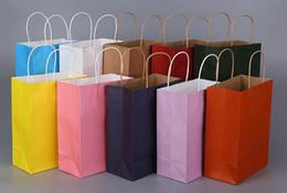 2019 embalaje para baterías de teléfonos celulares 100 unids Fedex DHL Envío Libre 13 Color de Moda Bolsas de Mano Longitud Mango Bolsa de Papel Embalaje de Regalo 27 * 21 * 11 cm