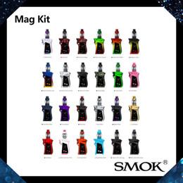 Wholesale Smok Kits - SMOK Mag Kit With 8ml TFV12 Prince Tank 225W Mag TC Mod Lock-n-load Design for Battery Installation Patented Locking Mechanism 100% Original