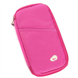 Wholesale waterproof zipper wallet - Multifunctional card holders men passport wallets women purse high quality Organizer handbag travel waterproof card bag gift