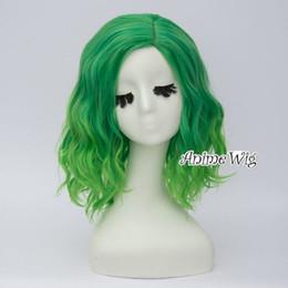 2019 peluca lolita resistente al calor 35 CM verde Ombre mujeres partido rizado sintético a prueba de calor Lolita Cosplay peluca rebajas peluca lolita resistente al calor