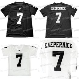71952224926 China White Black For 7 IMWITHKAP JERSEY COLIN KAEPERNICK I M WITH KAP  FOOTBALL JERSEY Black Men