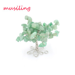 Wholesale good heal - Life tree Decoration Family Display Goods Natural Gem Stone Reiki Healing Pendulum Charms Amulet Accessories Women Mens Jewelry