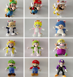 Wholesale Doll More - 100% Cotton More Style 18-28cm Super Mario Bros . Mario Luigi Wario Waluigi Daisy Rosalina Princess Plush Doll Stuffed Toy Best Gifts