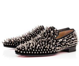2019 chaussures de carrière pour femmes Mode Cool Hommes De Mariage Spiked Chaussures Fond Rouge Dandy Pik Pik, Hommes Partie Robe D'affaires Rivets Chaussures Hommes 38-46 Livraison Gratuite de Haute Qualité