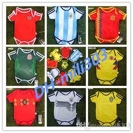 d99038830 2018 World Cup MEXICO BABY Soccer Jersey SPAIN ARGENTINA SWEDEN RUSSIA  BELGIUM COLOMBIA Jumpsuit France Baby Climb Clothes free shipping