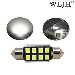 Wholesale Bmw E39 Door - WLJH LED 36mm C5W CANbus C5W Bulbs 2835SMD Interior Lights License Plate Light For BMW E39 E36 E46 E90 E60 E30 E53 E70