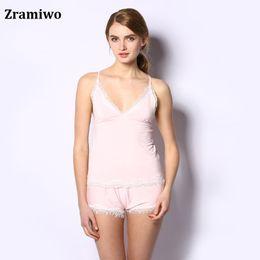 Wholesale-Cotton Cami and Shorts Set Comfy Pajamas Modal Nighties  Sleeveless Nightgowns Women s Pajamas Sets def2a4411