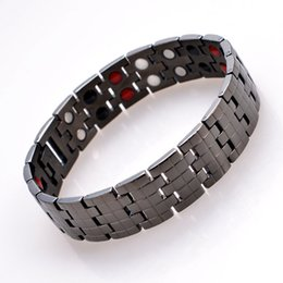 fashion magnetic therapy bracelet UK - Fashion Design Bracelet Bangles Blood Pressure Bio Titanium Magnetic Therapy Bracelet