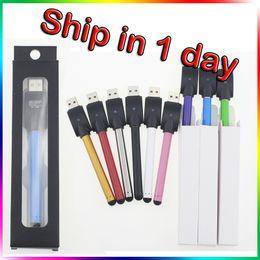 Wholesale wax pen vape - CE3 Battery Bud Touch O Pen CE3 Vape Pen 510 Thread Battery 280mAh Slim Automatic E Cigarettes Fit For Wax Oil Cartridge Vaporizer
