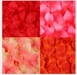 exposições de frutas falsas Desconto 40 cores falsas pétalas de rosa 100 pçs / set simulação de casamento decoração de casamento festa de casamento dos namorados decoração de festa flor