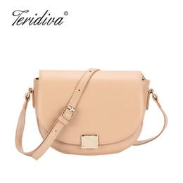 b1cb90191021 2018 New Fashion Saddle Women Messenger Bag Design Candy Color Chains  Crossbody Bags For Girls Fashion Small Shoulder Handbag