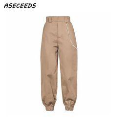 4524bdfb4de Spring 2018 fashion woman camo pants women cargo high waist pants loose  trousers joggers women camouflage sweatpants streetwear