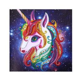 2019 pinturas vintage niños Unicornio Estrella Especial Diamante 5D Diamante Redondo Bordado Pintura Animal DIY Kit de punto de Cruz Mosaico Dibujar Decoración Arte Arte Artesanía regalo