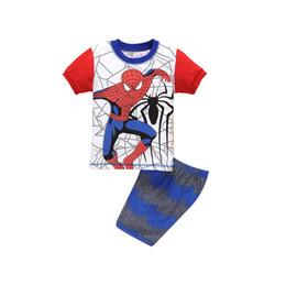 Hot Summer Kids Pigiama Baby Boys Gilrs Abbigliamento Costume Cartoon Short Sleeve Pigiama pigiami per bambini Sleepwear Set YW443 da