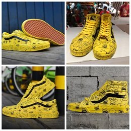 scarpe casuali della tela di canapa delle donne Sconti vans old skool 2019 nuove Peanuts Mens Womens scarpe da skate in tela Snoopy Fumetto Comic Old Skool High-top slip on zapatillas de deporte Casual Sneakers