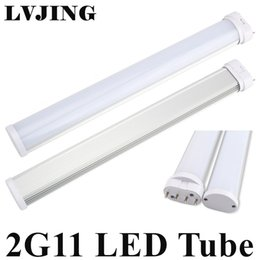Wholesale Best Living Room - Best 2G11 LED Light 2G11 Tube LED 12W 15W 18W 25W SMD2835 Diffused Cover AC85--265V Warm Cool White Free Shipping