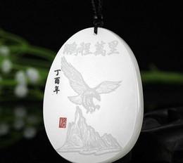 2019 weißgold adler anhänger Xinjiang Hetian Jade weiße Jade Dapeng verbreitet Flügel Jade afghanischen Adler Anhänger Samen Pengcheng Wanli günstig weißgold adler anhänger