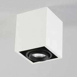 Luz da grelha do tecto on-line-NOVA luz de teto caixa de abertura livre de teto LED spot iluminação 5 W LED Grelha holofotes de vesícula biliar 360 ajuste de ângulo anti-reflexo