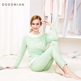Wholesale Sexy Pjs - Brand Women Pjs Sleepwears Spring Autumn Indoor Homewears Casual Female T-Shirt+Pants Home Suits Cotton Woman Nightnie Clothing