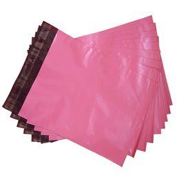 Wholesale Plastic Sacks - 19X31cm Pink Bag Waterproof Plastic Pouch Express Delivery Logistics Mail Pocket Super Glue Bag Sealed Envelope Sack
