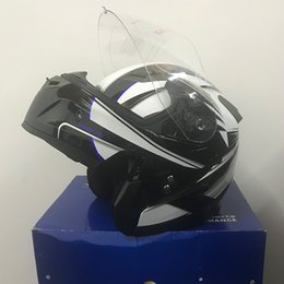 2019 capacetes de viseira para motocicletas 2018 Full Face Fosco Sliver Dual Visor Moto undrape rosto capacete motocicleta dupla lente casque off road Em Estoque desconto capacetes de viseira para motocicletas