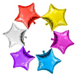 Globos en forma de estrella online-Globos de aire creativos Globo de aire de forma de estrella de cinco puntas para decoraciones de bodas Niños Globo de papel de aluminio de helio divertido 0 59tq3 B