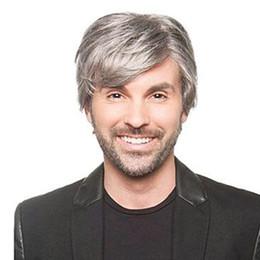 Los hombres de pelo corto gris pelucas pelo sintético fibra de alta temperatura resistencia al calor para la venta envío gratis 2018 desde fabricantes