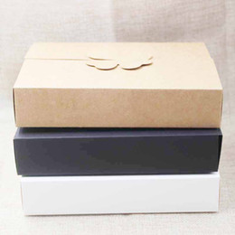 Wholesale homemade packaging - DIY gifts box ,white kraft cookie cake homemade display box, wedding favors decoration package box 10pcs size 17*13*3.5cm