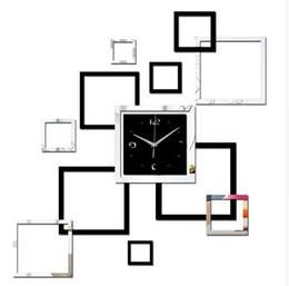 Sala de estar novo relógio de parede 3d diy relógios de decoração para casa relógio horloge murale quartzo acrílico espelho adesivos frete grátis de Fornecedores de banheiro de quartzo