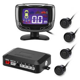 Wholesale rear view backup system - Free Shipping PZ500 LCD Car Parking Sensor Backup Reverse Rear View Radar Alert Alarm System with 4 Sensors