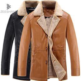 Wholesale Synthetic Breasts - ZEESHANT Brand Men Winter Jacket Single Breasted Fleece Collar Slim Fit Mens Pea Coat High Quality Casual Men Long Coat XXXXL