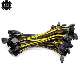 Wholesale Video Card Motherboard - Hot 10pcs Lot 8-pin PCI Express to 2 x PCIe 8 (6+2) pin Motherboard Graphics Video Card PCI-e GPU VGA Splitter Hub Power Cable