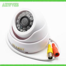 câmera de segurança de vigilância de cor Desconto 1200TVL CCTV Câmera de Segurança Cor CMOS IR Filtro de Visão Noturna Noite Noite Câmera Interna Dome IRCUT Vigilância Por Vídeo