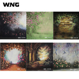 Живописный муслиновый фон онлайн-Живописный муслин фотографический фон 2 * 3 м 3 * 3 м 3 * 4 м студия фон фон для свадьбы новорожденного и семьи