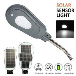 Support de capteur en Ligne-Réverbère solaire de capteur de mouvement de PIR de 40W / 60W 82LED avec le support extérieur imperméable d'éclairage de sécurité de lampe de mur