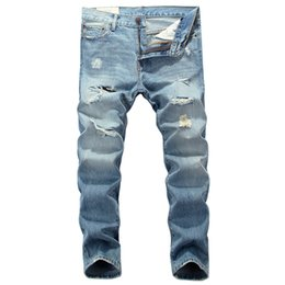 5311238a924 2018 Summer Newly Fashion Men s Jeans High Quality Light Blue Color Cotton  Ripped Jeans Men Brand Classical Big Size 28-40. Supplier  macloth