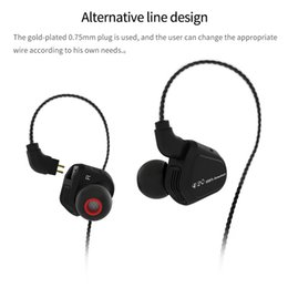 Wholesale 2pin cable - 2018 New TRN V20 DD+BA Hybrid In Ear Earphone HIFI DJ Monitor Running Sport Earphone Earplug Headset With 2PIN Cable KZ ZS6