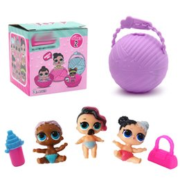 Wholesale doll toys for girls - Mini Surprise Doll Series 2 LiL Sisters Action Figures 7.5CM Ball Surprise Dolls Dress Up Baby Spray Water Dolls Toys for Kids