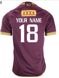 Wholesale Can Tops - QUEENSLAND STATE OF ORIGIN 2018 JERSEY 2017 New Queensland rugby jerseys Top quality QLD Maroons Rugby size S-4XL-5XL (Can print)