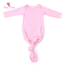 Wholesale Baby Boy Gowns - Baby Sleep Gown Pink Newborn Sleep Gown Light Blue Baby Tie Sack Boys Girls Clothes Wholesale