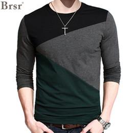 Wholesale T Shirt Decorating - Wholesale-2016 New Plus Size Mens Autumn Casual T-shirt Fashion Slim Long Sleeve V Neck T Shirt Button Decorating Tees   Tops V-neck