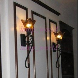 Wholesale Indoor Lights China - industrial wall sconce Antique black China Hotel Wall Lamp retro industrial lighting Large wrought iron wall lamps indoor lamp