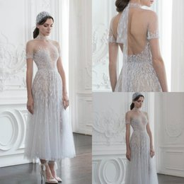744b7a966c8 Paolo Sebastian Prom Dresses With Handband High Neck Illusion Sexy Hollow  Back Short Sleeve Formal Dress Party Appliques Beaded Evening Gown paolo  sebastian ...