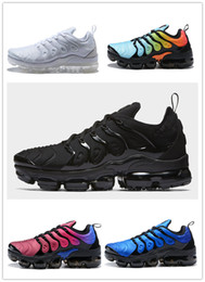 Wholesale Mesh For Sale - 2018 New Vapormax TN Plus VM In Metallic Black White Olive Men Mens Running Shoes for sale Designer Luxury Shoes Athletic Sneakers Trainers