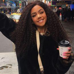 Top qualité beauté jolie 100% non transformés vierge remy cheveux humains longue couleur naturelle afro bouclés pleine dentelle perruque pour les femmes ? partir de fabricateur