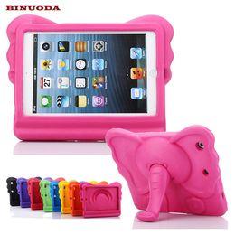 estuche antichoque ipad air Rebajas Para iPad Mini Kids Case 3D Elephant EVA Niños soporte de la tableta cubierta protectora para iPad Mini 4 3 2 1 ipad air Coque Funda resistente a las caídas