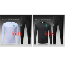 Wholesale Sport Wear Kids Boy - Thai 17 18 Real Madrid kids soccer Tracksuit ASENSIO boy Track suits jacket 2017 2018 Real Madrid chandal ISCO training suits sports wear