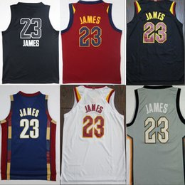 Wholesale New Jersey Drop Ship - 2018 New The Land Basketball Jersey LeBron #23 James Black All Star White Red Navy Blue throwback Jerseys Free Drop shipping Mix order